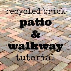 recycled brick patio and path DIY tutorial (cheap summer porch decor)