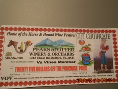 www.facebook.com/... LIKE us if you like us ♥  Our Top Fan on Facebook will receive a $25 Gift Certificate from Peaks of Otter Winery   LIKE them http://www.facebook.com/pages/Peaks-of-Otter-Winery/280375068527