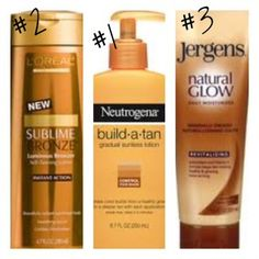 3 of the best sunless tanning lotions