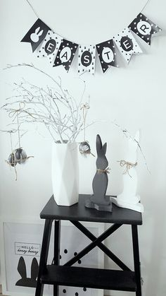 Black & white easter decoration ... I like nordic style ;-)