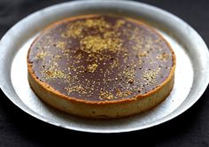 tarte au lemon curd et ganache pralinoise