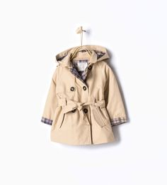 ZARA - COLLECTION AW15 - Trench coat with hood