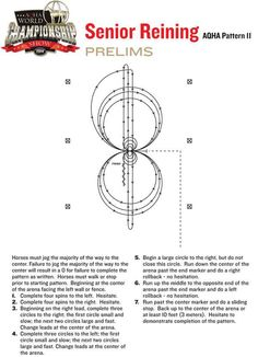 Check out the pattern selected for the 2014 #AQHAWorldShow senior #reining prelims.