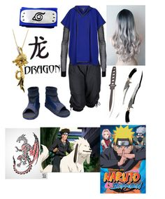 """naruto ( the eleven tailed dragon character oc )"" by nightmare-reaper ❤ liked on Polyvore featuring Ann Demeulemeester and St. John"