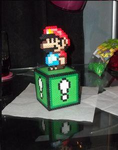Mario Box Perler by Libbyseay.deviantart.com