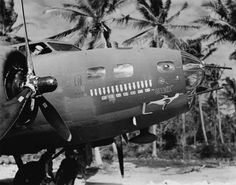 """B17 """"GOONIE"""" , with 15 completed missions and 7 Japanese planes shot down."""