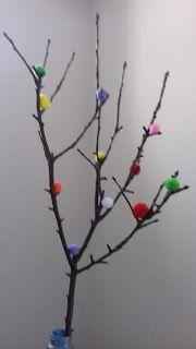 Az ÜdvöZöld blog: Húsvétváró pomponos ág