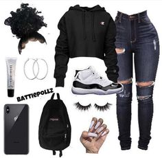 You can also see more ideas about cool outfits plus size , cool outfits for teens , cool outfits sommer , cool outfits for college , cool ou. Swag Outfits For Girls, Cute Comfy Outfits, Teenage Girl Outfits, Cute Outfits For School, Cute Casual Outfits, Teen Fashion Outfits, Teenager Outfits, Dope Outfits, Outfits With Jordans