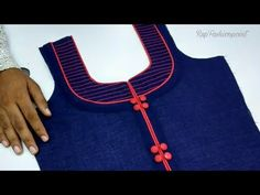 Latest Front Neck Design (Anchor & Piping) Cutting and Stitching - YouTube