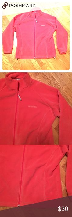 Columbia fleece flamingo zip up jacket size large Very nice Columbia zip up jacket size large women's and flamingo color very nice and warm great for any occasion non-smoking home fast delivery at an excellent price get it today Columbia Jackets & Coats