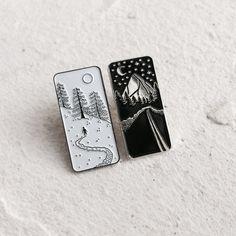Enamel Pins - Snow and Night #wishlist #design