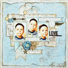 CraftHobby Oliwiaen: Love You. layout 30x30