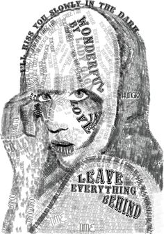 "Lady Gaga Typographic Portrait using lyrics from the song ""Wonderful"" by ~Bunnie-Boo on deviantART"