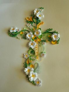 Quilled cross 2 by HappilyEverArtful on Etsy