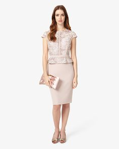 Phase Eight Mia Lace Dress Pink