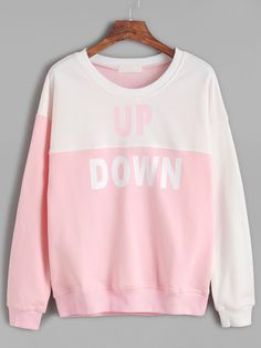 Shop Color Block Letter Print Sweatshirt online. SheIn offers Color Block Letter Print Sweatshirt & more to fit your fashionable needs.