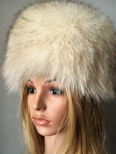 fcdf7369732 Premium SILVER FOX Fur Chapka Ushanka BIG Hat Pelzmütze Fell Mütze ...