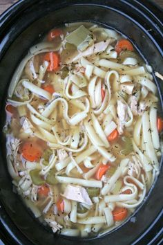 Grandma's Leftover Turkey Noodle Soup - The Magical Slow Cooker Healthy Slow Cooker, Slow Cooker Soup, Slow Cooker Recipes, Crockpot Recipes, Soup Recipes, Cooking Recipes, Recipies, Chili Recipes, Dinner Recipes