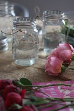 The frog lid - I didn't think of that! Yes! DIY Weddings: How To Make Hanging Mason Jar Flower Vases With Frog Lids