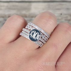 Rhinestone Fashion Ring Stack