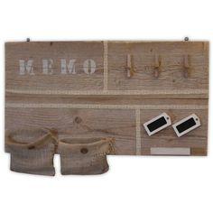 Steigerhouten memobord voor al uw accessoires