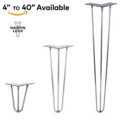 Heavy Duty Hairpin Legs (Satin Black) - Mid Century Modern - Set of 4 Table Legs - - Amazon.com
