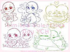 (CLOSED)Valentines Day YCH Set Price by Maymorin