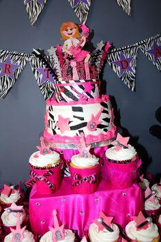 Cake at a Rockstar Party #rockstar #partycake