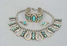 472. Frank Patania Sr. (1899-1964) Sterling Silver & Turquoise Set - September 2005 Auction - ASPIRE AUCTIONS