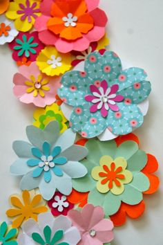 Detail of wreath paper flowers