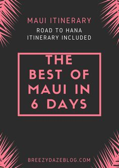 Space Guide 6 Days in Maui Itinerary with Road to Hana One-day Guide - Maui Itinerary / Things To Do in 6 days with One Day Road to Hana Guide Included. Trip To Maui, Need A Vacation, Hawaii Vacation, Maui Hawaii, Hawaii Life, Vacation Ideas, Vacation Spots, Hawaii Travel Guide, Maui Travel