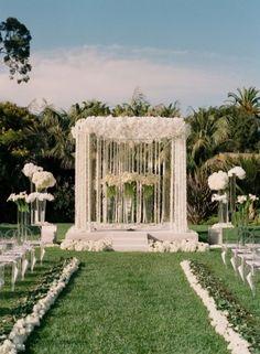 A Spectacular Floral Wedding Canopy All White Wedding, Mod Wedding, Floral Wedding, Perfect Wedding, Wedding Flowers, Dream Wedding, Glamorous Wedding, Church Wedding, Garden Wedding