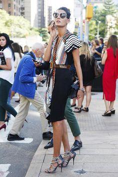 Giovanna Battaglia - Fashion Editor color dress