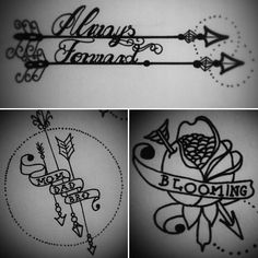 #sketch #blooming #flower #arrow #mother #tattoo
