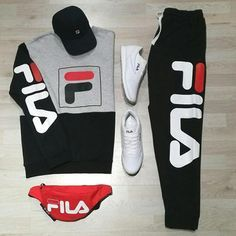 Fila or Jordan.Fila or Jordan Dope Outfits For Guys, Swag Outfits Men, Tomboy Outfits, Tomboy Fashion, Nike Outfits, Casual Outfits, Fashion Outfits, Hype Clothing, Mens Clothing Styles