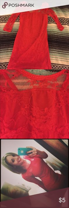 Red lace dress size small Red lace dress size small Divided Dresses Mini