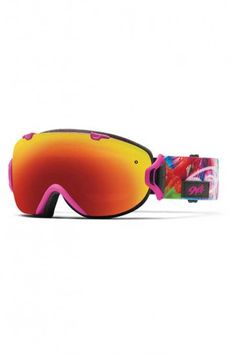 2026f2525a3f Smith Optics I OS Vaporator Series Winter Sport Snowmobile Goggles Eyewear  – Magenta Tropidelic Red SOL-X   Small Medium