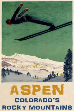 Colorado Ski Vacation Sport Trip Vintage Poster Repro FREE SHIPPING IN USA