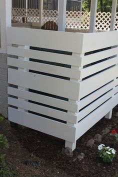 conceal garbage cans/AC/pool equipment and outdoor shower