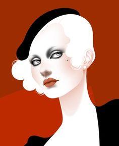 Autumn Whitehurst vectoriel rouge et noir