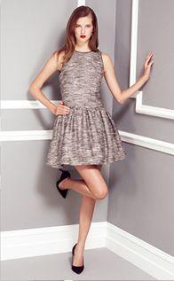 Teasel Metallic Tweed Dress £135