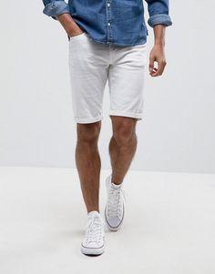 Blend of america denim short white Latest Mens Fashion, Mens Fashion Suits, Mens White Shorts, Denim Shorts, Latest Outfits, Latest Clothes, Casual Winter Outfits, America, Asos