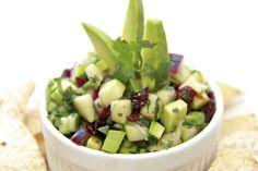 Granny Smith Apple & Avocado Salsa | thecafesucrefarine.com