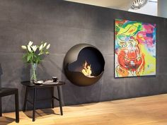 Circle Ethanol Fireplace
