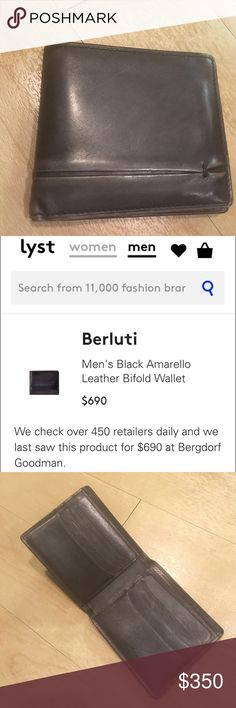 5f50d60a7a0b Berluti Amarello Black Leather Wallet High Quality Men s Berluti wallet  made of genuine leather. This wallet retails for  690. Berluti Bags Wallets