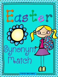 This Easter Synonym match is a great activity for whole or small groups and literacy centers.  $