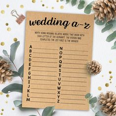 Wedding A to Z Game, Bridal Shower Games Printables, Bridal Shower Game Idea, Bridal Shower Instant Bridal Party Games, Princess Party Games, Wedding Shower Games, Bachelorette Party Games, Bridal Shower Favors, Bridal Showers, Shower Party, Best Bridal Shower Games, Wedding Bingo