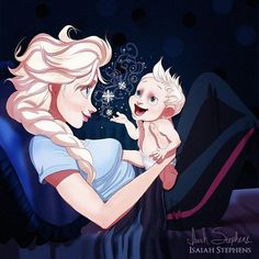 Elsa | How Disney Princesses Would Look If They Were Mothers