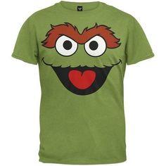 Sesame Street Oscar the Grouch Face T-shirt