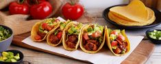 These spicy vegan tacos feature jackfruit, an ingredient popular with plant-based cooks for its meat-like texture and ability to absorb other flavors.